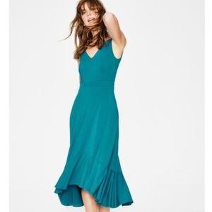 Boden Elisa Jersey Tank Midi Teal Sleeveless Dress